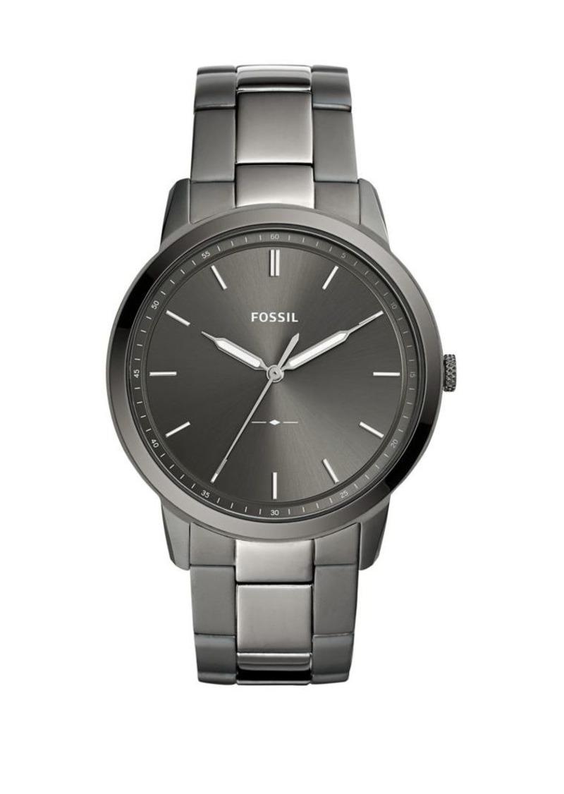 Fossil The Minimalist Three-Hand Smoke Stainless Steel Watch