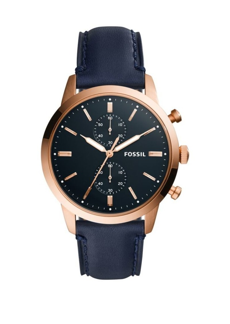 Fossil Townsman 44mm Leather Chronograph Watch