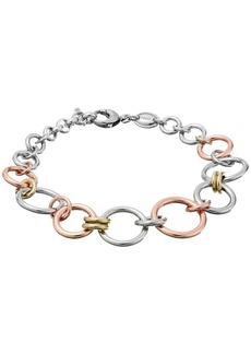 Fossil Tri-Tone Circle Bracelet