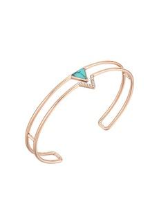 Fossil Triangle Open Cuff Bracelet