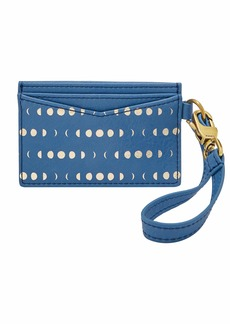 Fossil Women's Blue Cardcase with Wristlet Wallet