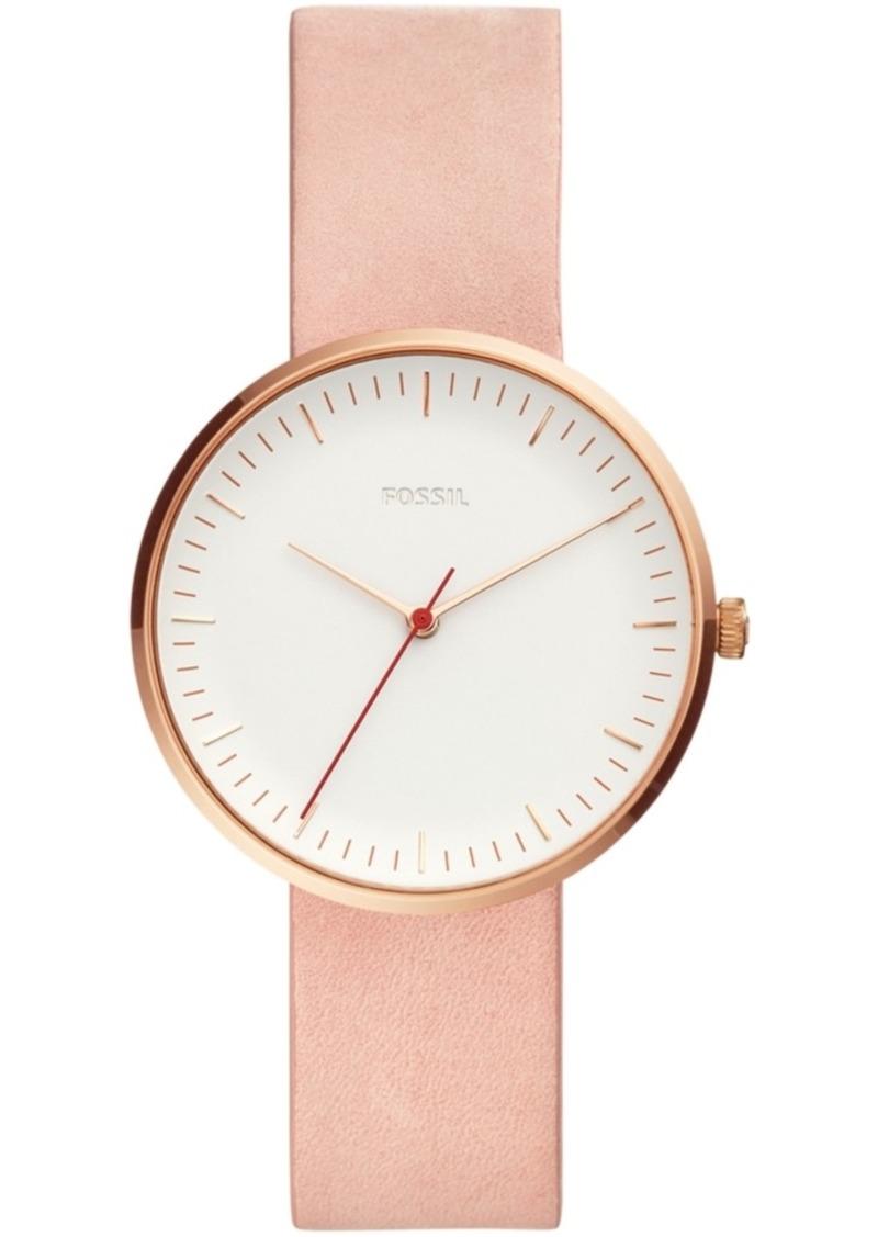 Fossil Women's Essentialist Blush Leather Strap Watch 38mm