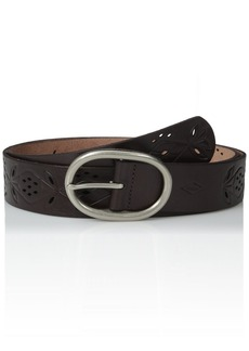 Fossil Women's Floral Perforated Belt  Medium