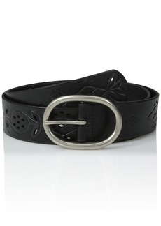 Fossil Women's Floral Perforated Belt  Small