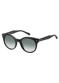 Fossil Women's Fos 2055/s Round Sunglasses BLACK 51 mm