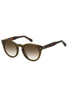 Fossil Women's Fos 2060/s Round Sunglasses  48 mm