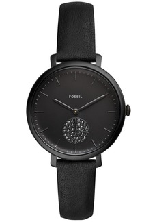 Fossil Women's Jacqueline Black Leather Strap Watch 35mm
