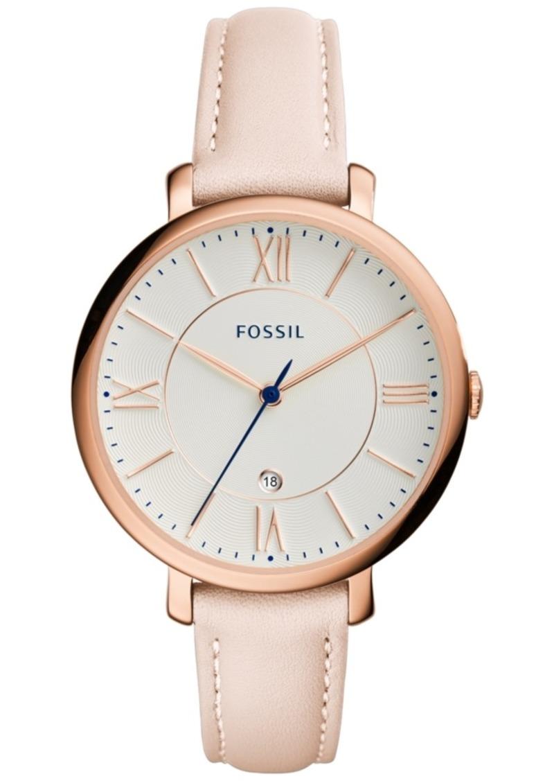 Fossil Women's Jacqueline Blush Leather Strap Watch 36mm ES3988