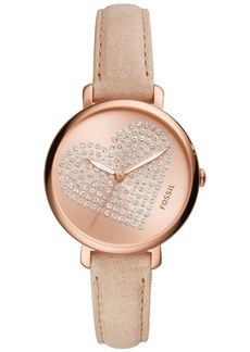 Fossil Women's Jacqueline Light Brown Leather Strap Watch 36mm