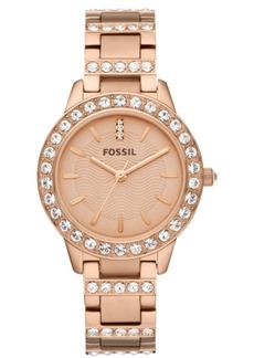 Fossil Women's Jesse Rose Gold-Tone Stainless Steel Bracelet Watch 34mm ES3020