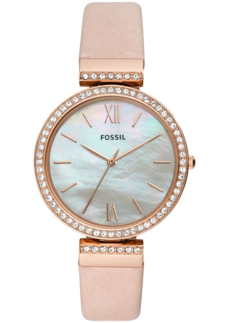 Fossil Women's Madeline Blush Leather Strap Watch 38mm