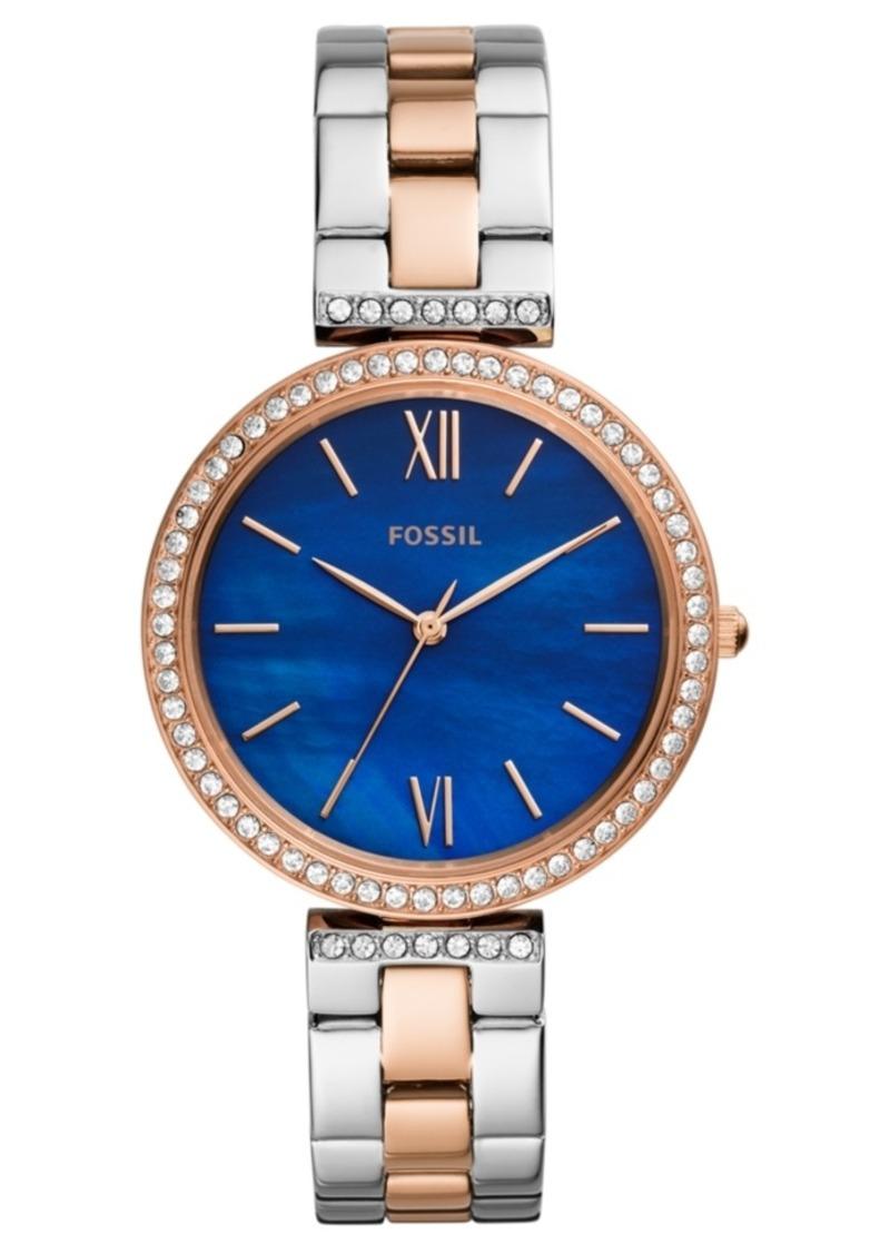 Fossil Women's Madeline Two-Tone Stainless Steel Bracelet Watch 38mm