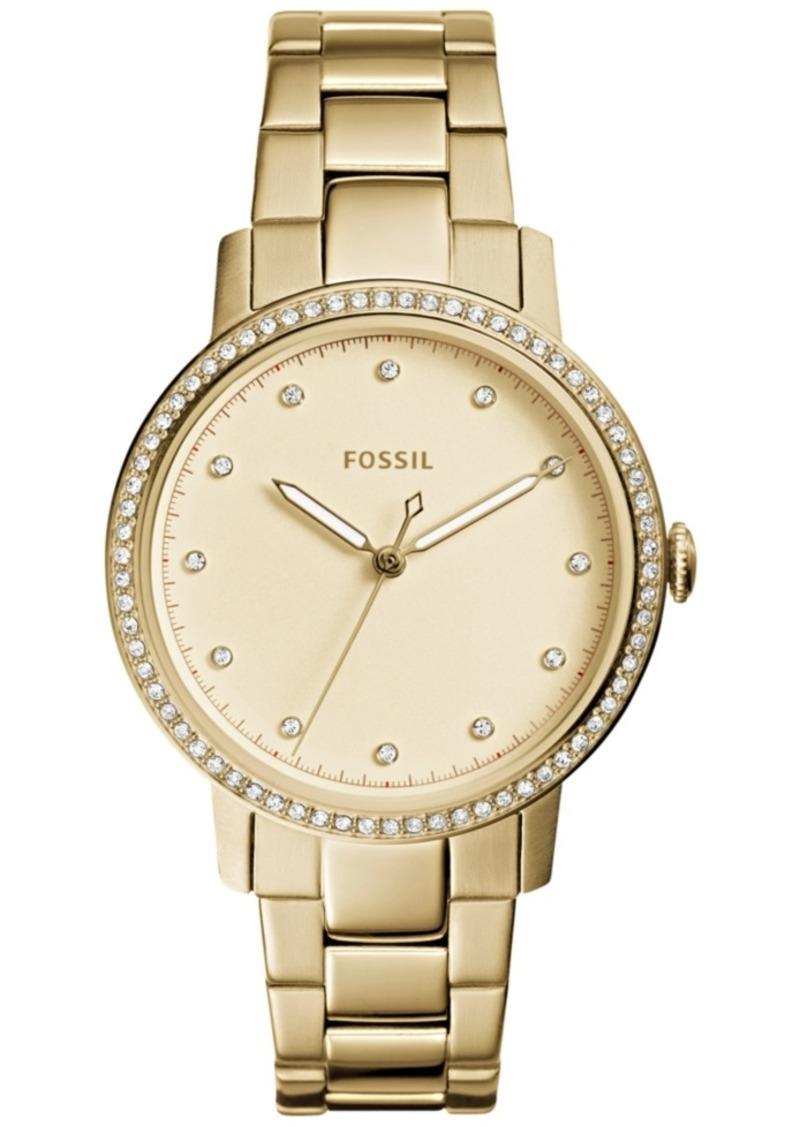 Fossil Women's Neely Gold-Tone Stainless Steel Bracelet Watch 35mm ES4289