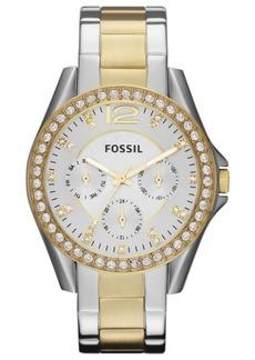 Fossil Women's Riley Two Tone Stainless Steel Bracelet Watch 38mm ES3204