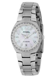 Fossil Women's Serena Stainless Steel Bracelet Watch AM4141