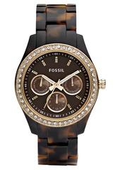 Fossil Women's Stella Tortoise Resin Bracelet Watch 37mm ES2795