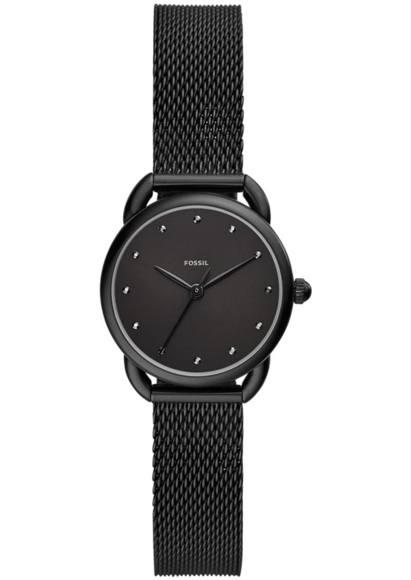 Fossil Women's Tailor Black Stainless Steel Mesh Bracelet Watch 26mm