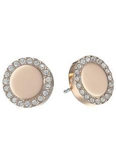 Fossil Glitz Metal Stud Earrings