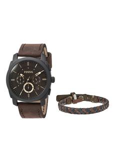 Fossil Machine Watch and Bracelet Box Set - FS5251SET