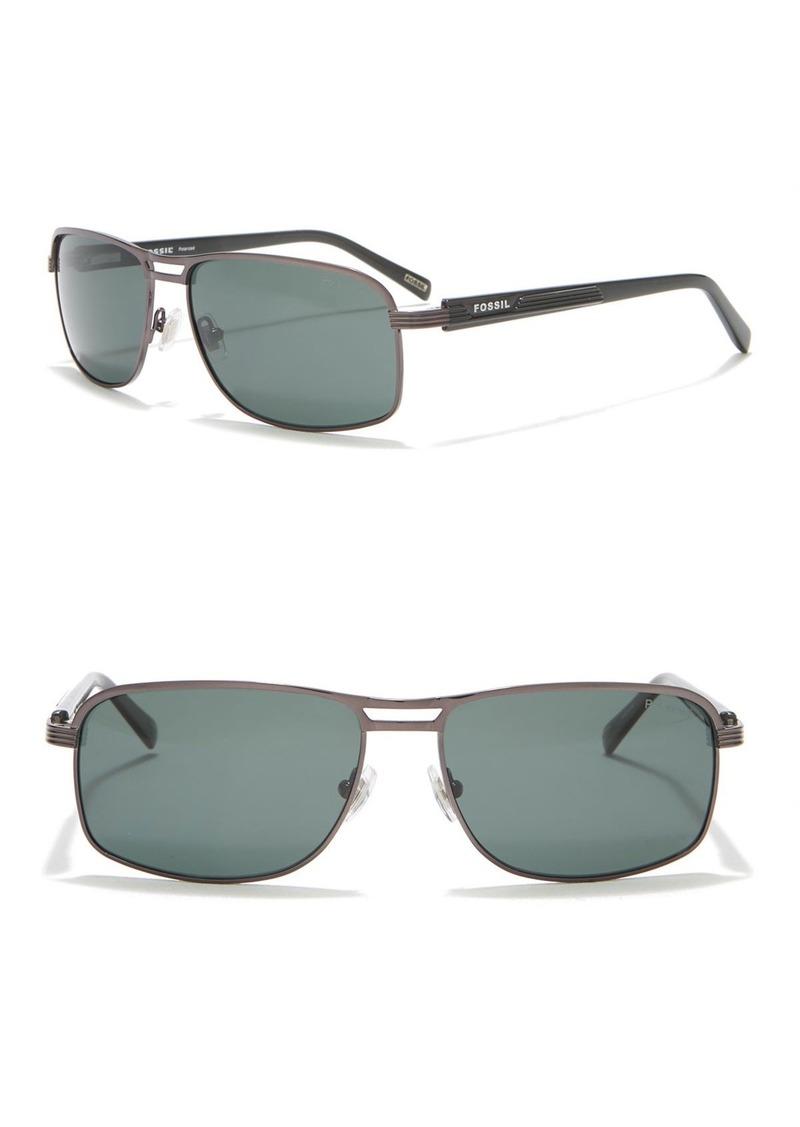 Fossil Marios 59mm Polarized Sunglasses
