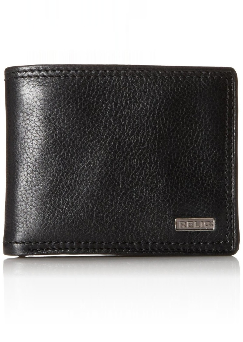 Relic by Fossil Men's Mark Leather Traveler Bifold Wallet