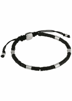 Fossil Stainless Steel and Agate Bracelet with Adjustable Closure