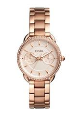 Fossil Women's Tailor Crystal Multifunction Bracelet Watch, 35mm