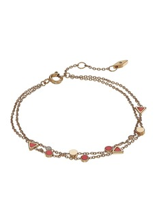 Fossil Triangle Coral Bracelet