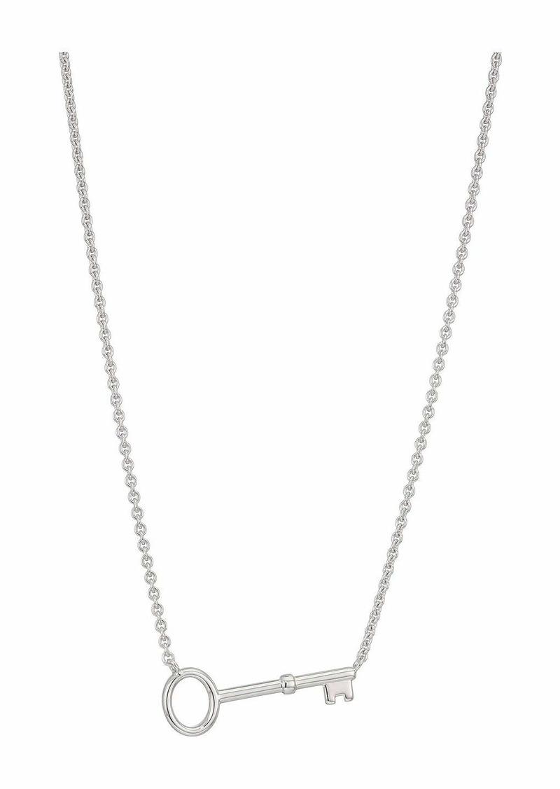 Fossil Vintage Key Necklace Single Key On Chain Sterling