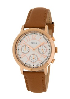 Fossil Women's Leather Strap Watch