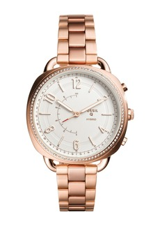 Fossil Women's Q Hybrid Crystal Accented Bracelet Smartwatch, 38mm