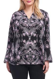 Foxcroft Ali Dolce Vita Bell Sleeve Shirt (Plus Size)