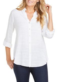 Foxcroft Amber Dobby Stripe Tunic Shirt