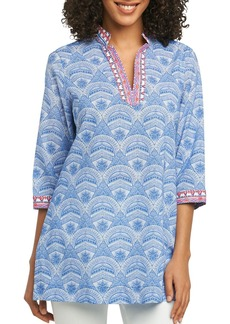 Foxcroft Angelica Wrinkle-Free Printed Tunic