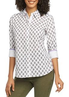 Foxcroft Ava Ikat Wrinkle-Free Shirt