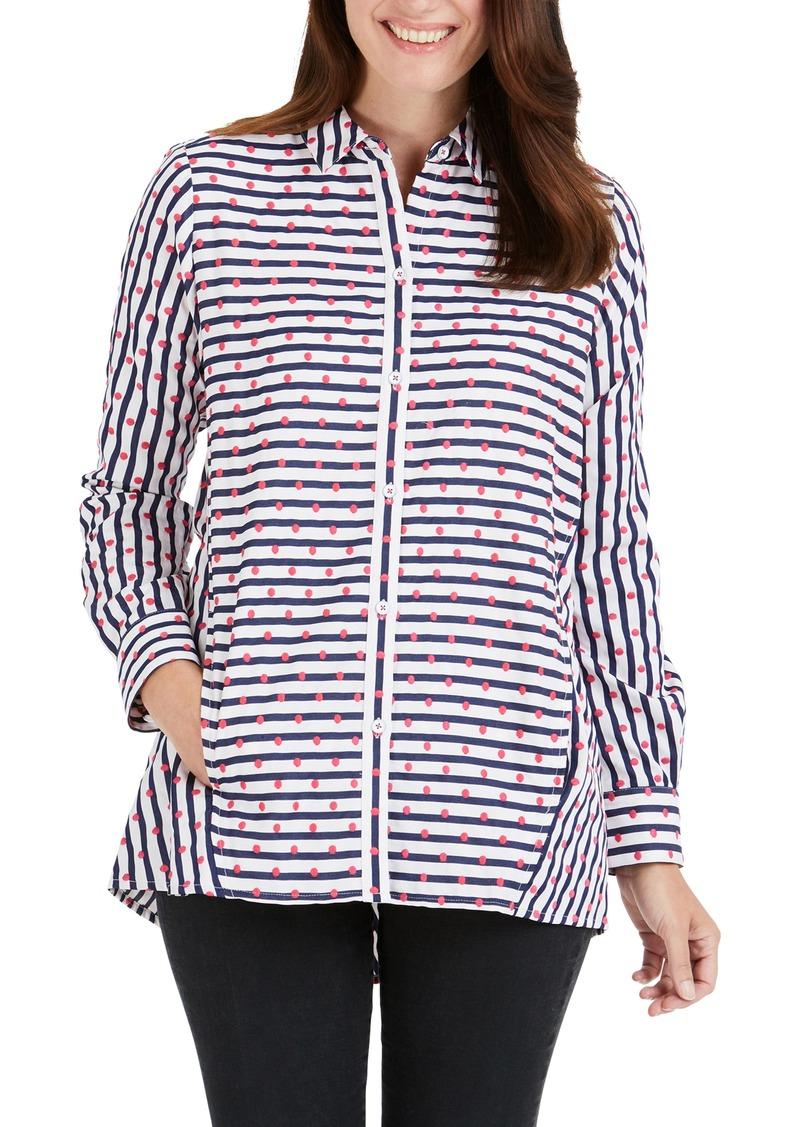 Foxcroft Carlene Dot Stripe Shirt