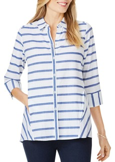 Foxcroft Carlene Nautical-Stripe Shirt