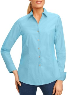 Foxcroft Button-Front Blouse