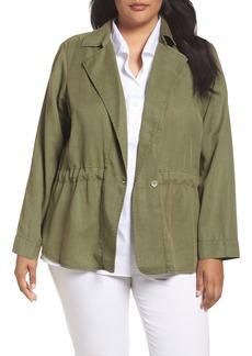 Foxcroft Celia Twill Jacket (Plus Size)