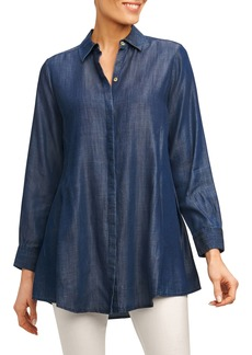 Foxcroft Cici Tencel® Tunic Shirt