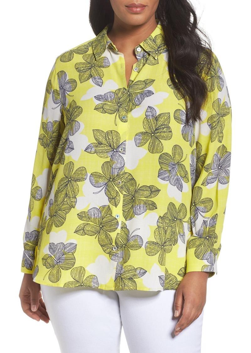 2ace28b9455 On Sale today! Foxcroft Foxcroft Citrine Floral Blouse (Plus Size)