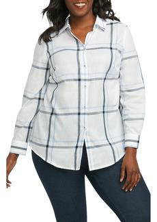 Foxcroft Coralie Plaid Woven Shirt (Plus Size)