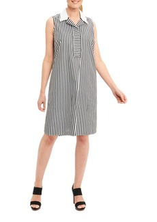 Foxcroft Cotton Striped Shirt Dress