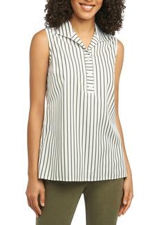 Foxcroft Dani Stripe Sleeveless Tunic Top
