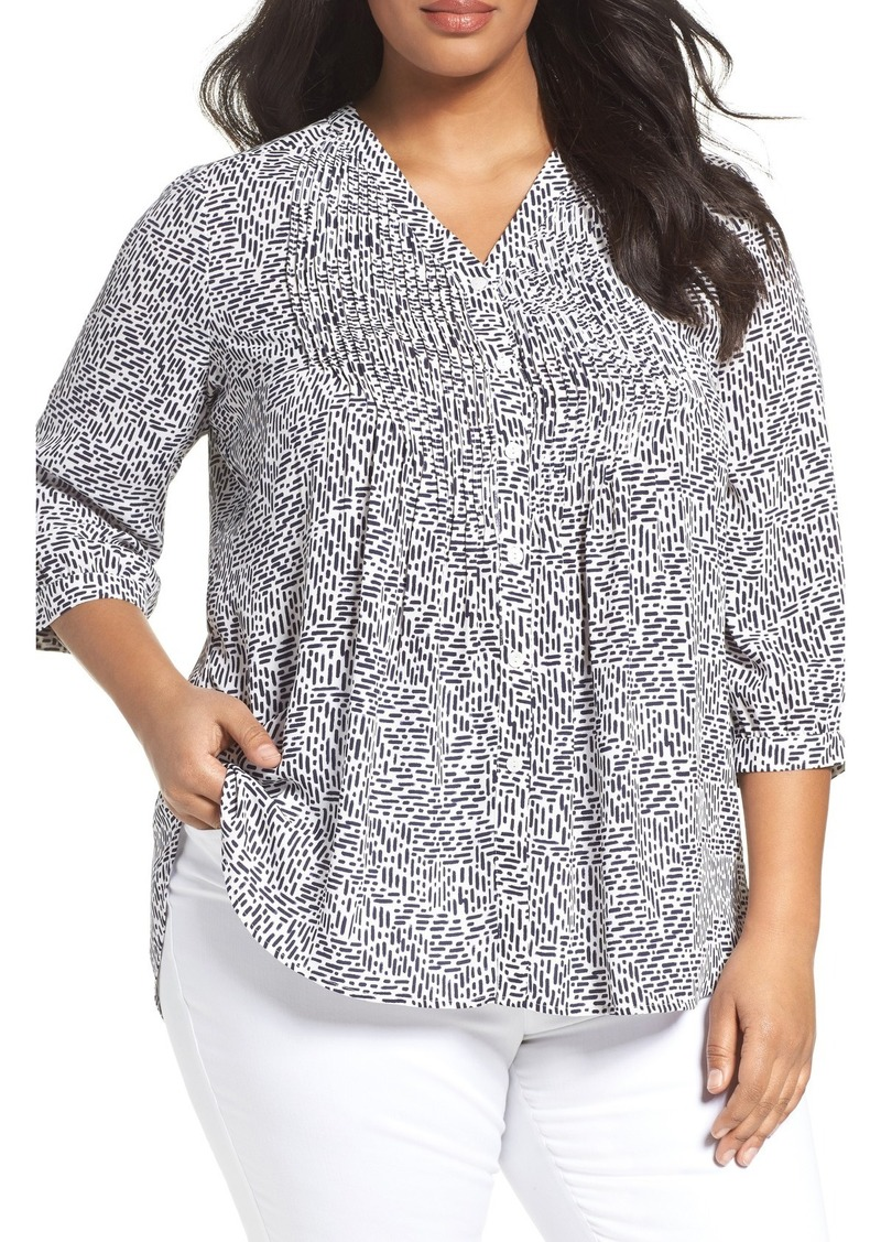 Sale Foxcroft Foxcroft Dots And Dashes Blouse Plus Size