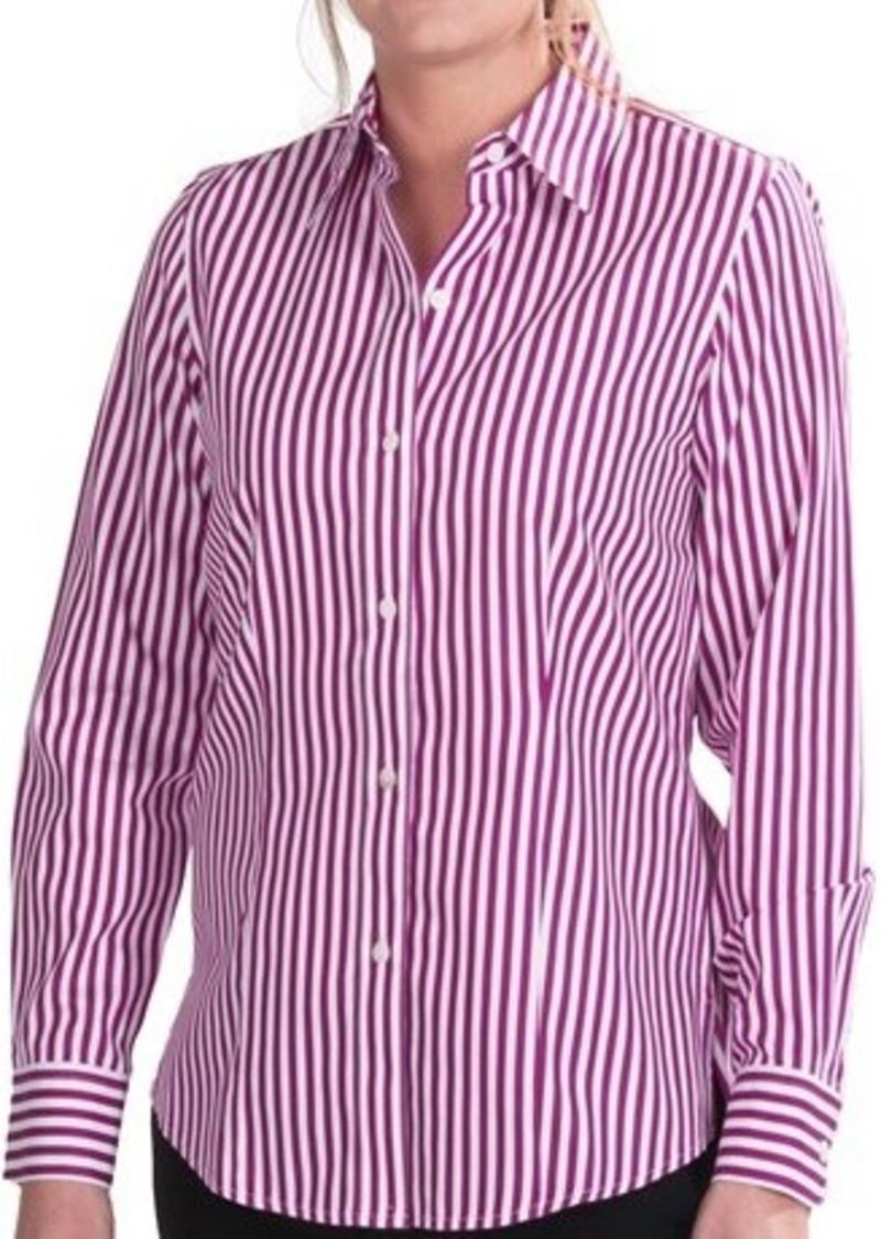 Foxcroft foxcroft downtown shirt no iron cotton long for No iron cotton shirts