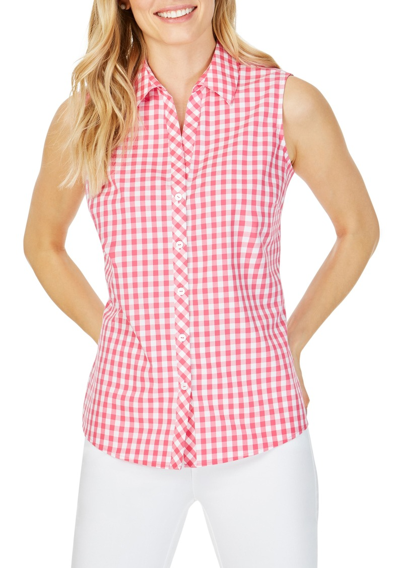 Foxcroft Elisa Sweet Gingham Sleeveless Blouse