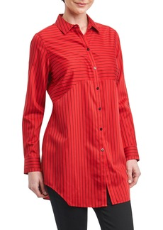 Foxcroft Gina in Holiday Stripe Shirt