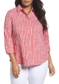 Foxcroft Gingham Shirt (Plus Size)