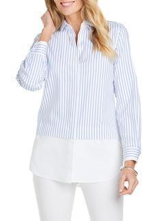 Foxcroft Giselle Layered Look Stripe Shirt